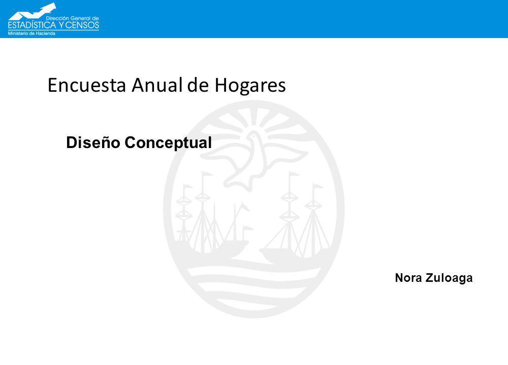 Encuesta Anual de Hogares Nora Zuloaga Diseño Conceptual