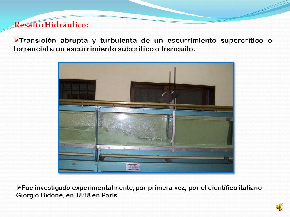 FACULTAD DE INGENIERIA Departamento de Hidráulica RESALTO HIDRÁULICO Elaborado por el Ing. Oscar Eduardo Tononi