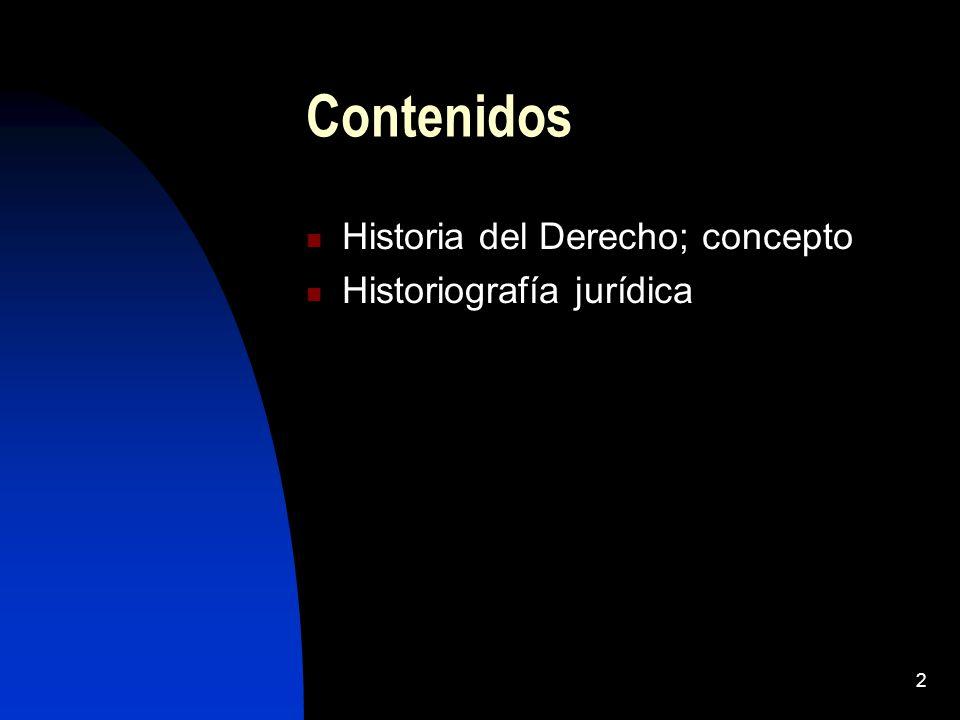 3 ¿Qué es la Historia del Derecho.