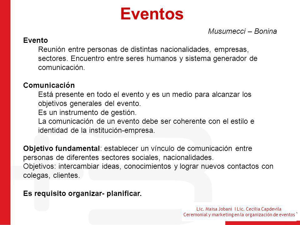 Lic. Maisa Jobani I Lic. Cecilia Capdevila Ceremonial y marketing en la organización de eventos Eventos Musumecci – Bonina Evento Reunión entre person