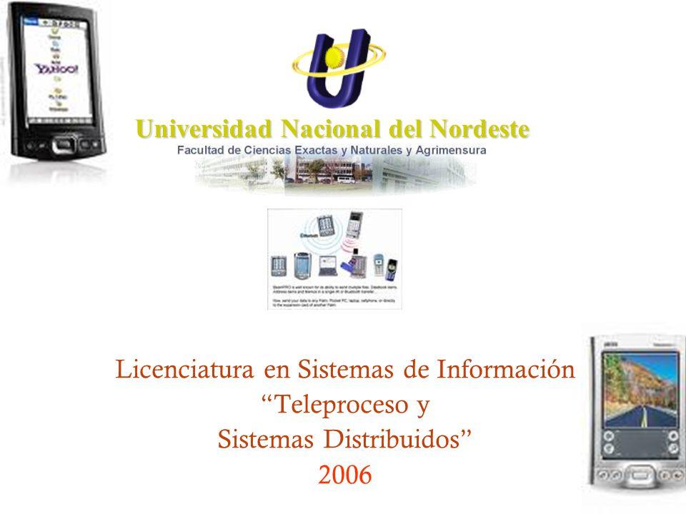 Universidad Nacional del Nordeste Licenciatura en Sistemas de Información Teleproceso y Sistemas Distribuidos 2006