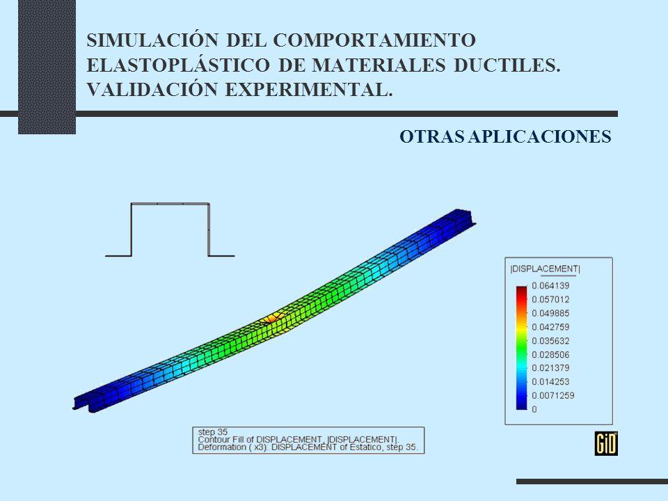 SIMULACIÓN DEL COMPORTAMIENTO ELASTOPLÁSTICO DE MATERIALES DUCTILES.