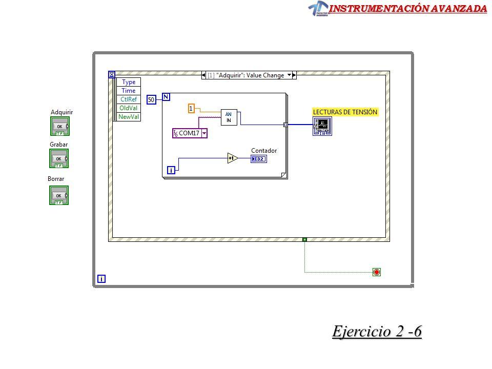 INSTRUMENTACIÓN AVANZADA Ejercicio 2 -6 Ejercicio 2 -6