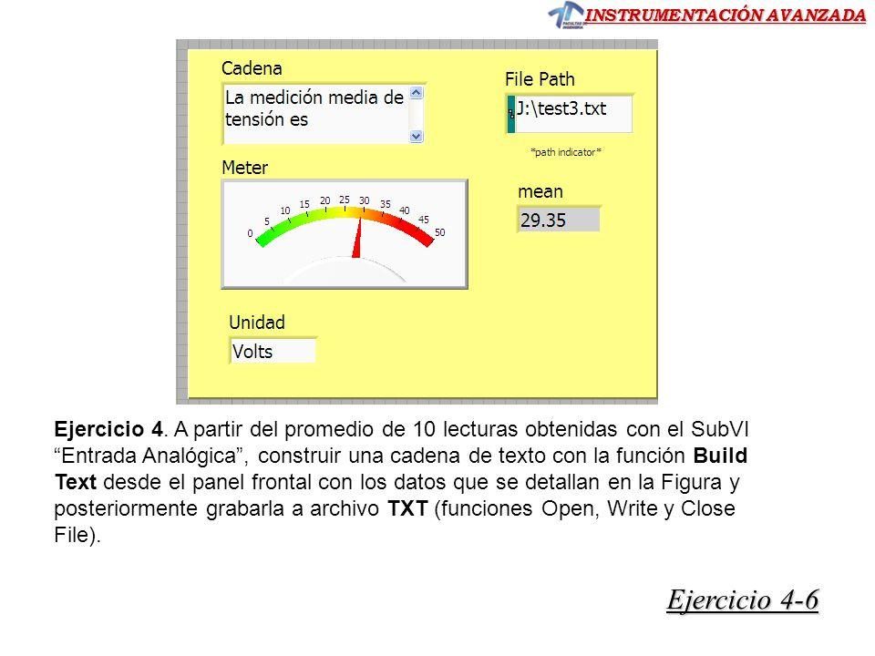 INSTRUMENTACIÓN AVANZADA Ejercicio 4-6 Ejercicio 4-6 Ejercicio 4.