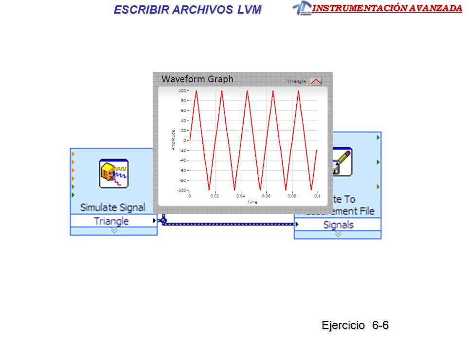 INSTRUMENTACIÓN AVANZADA ESCRIBIR ARCHIVOS LVM Ejercicio 6-6 Ejercicio 6-6