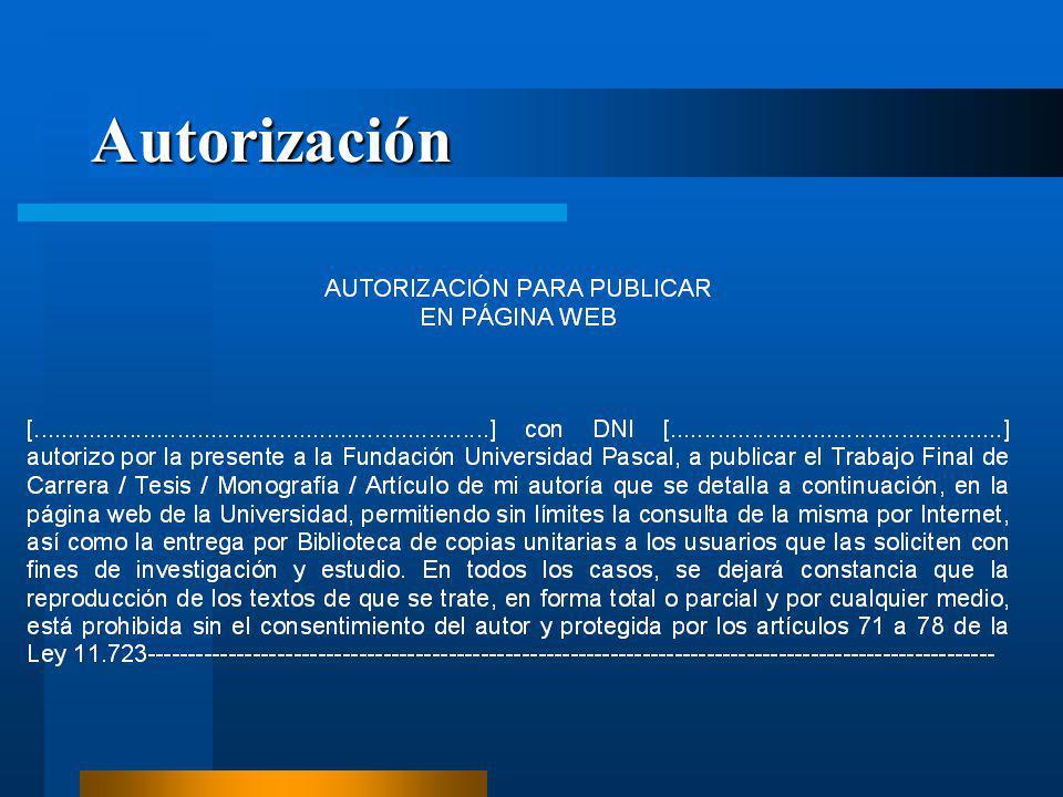Autorización
