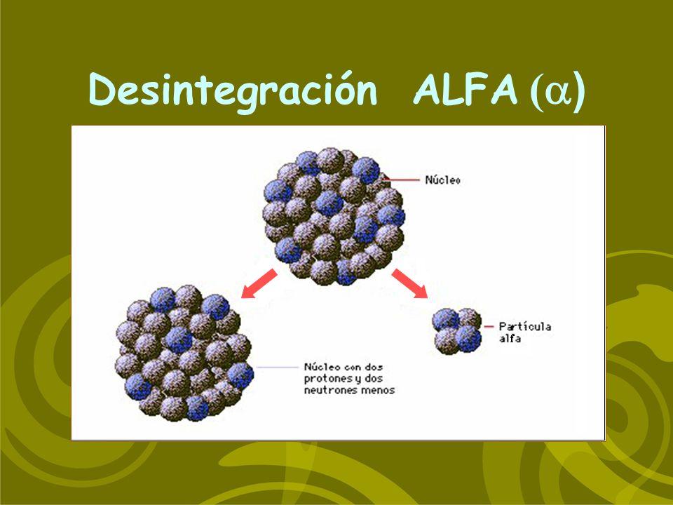 Desintegración ALFA ( )
