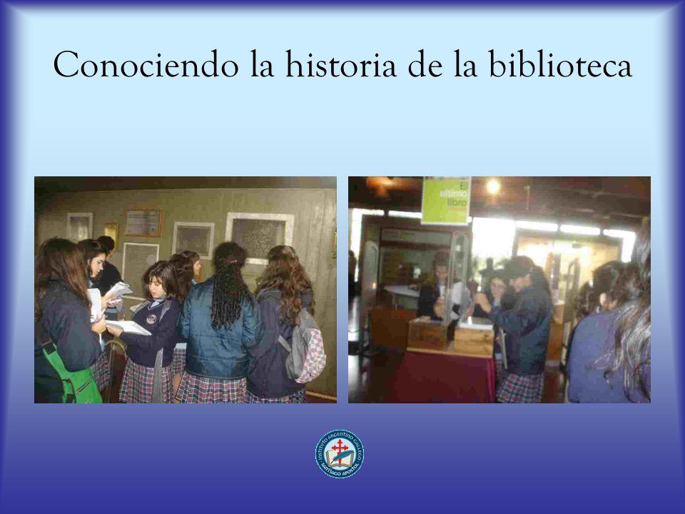 Conociendo la historia de la biblioteca