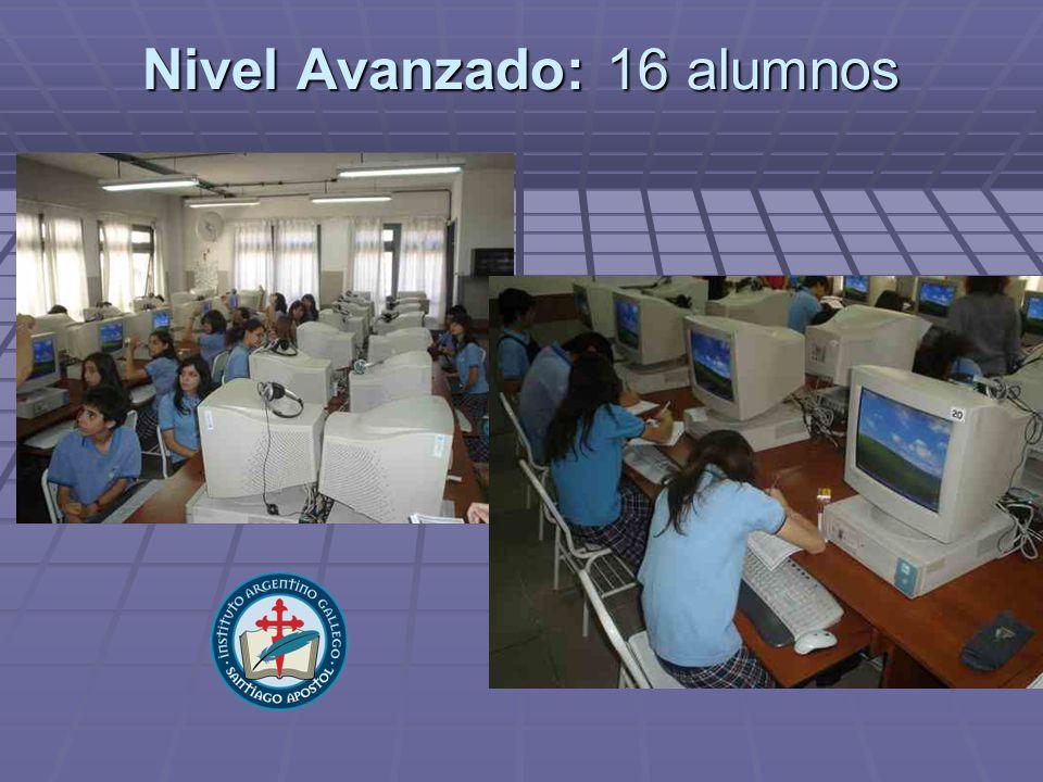 Nivel Avanzado: 16 alumnos