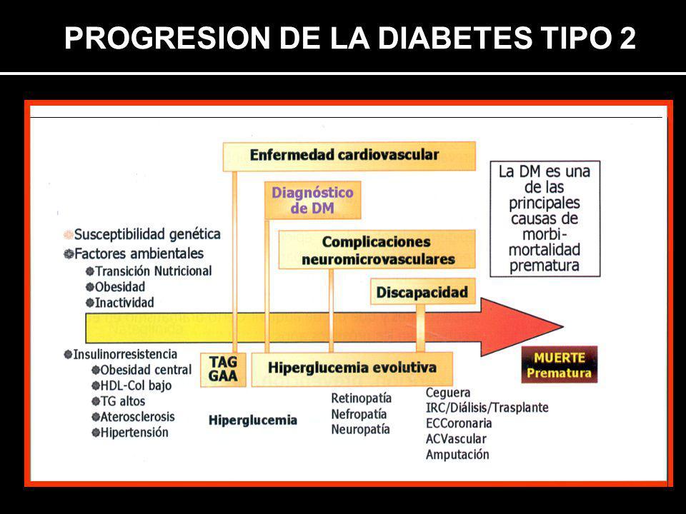PROGRESION DE LA DIABETES TIPO 2