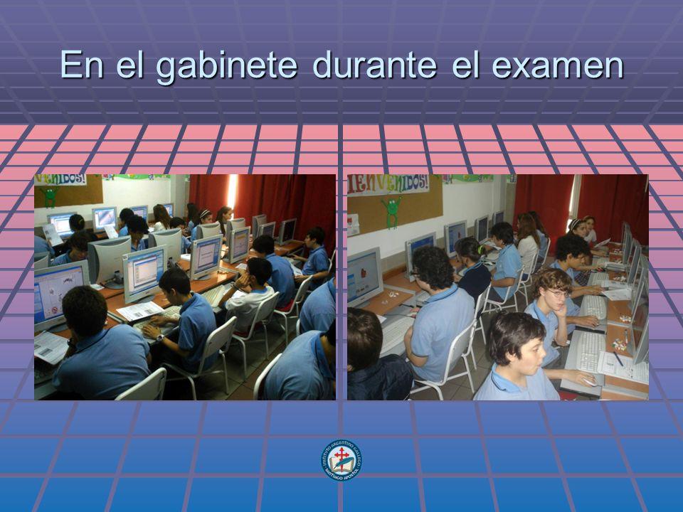 En el gabinete durante el examen