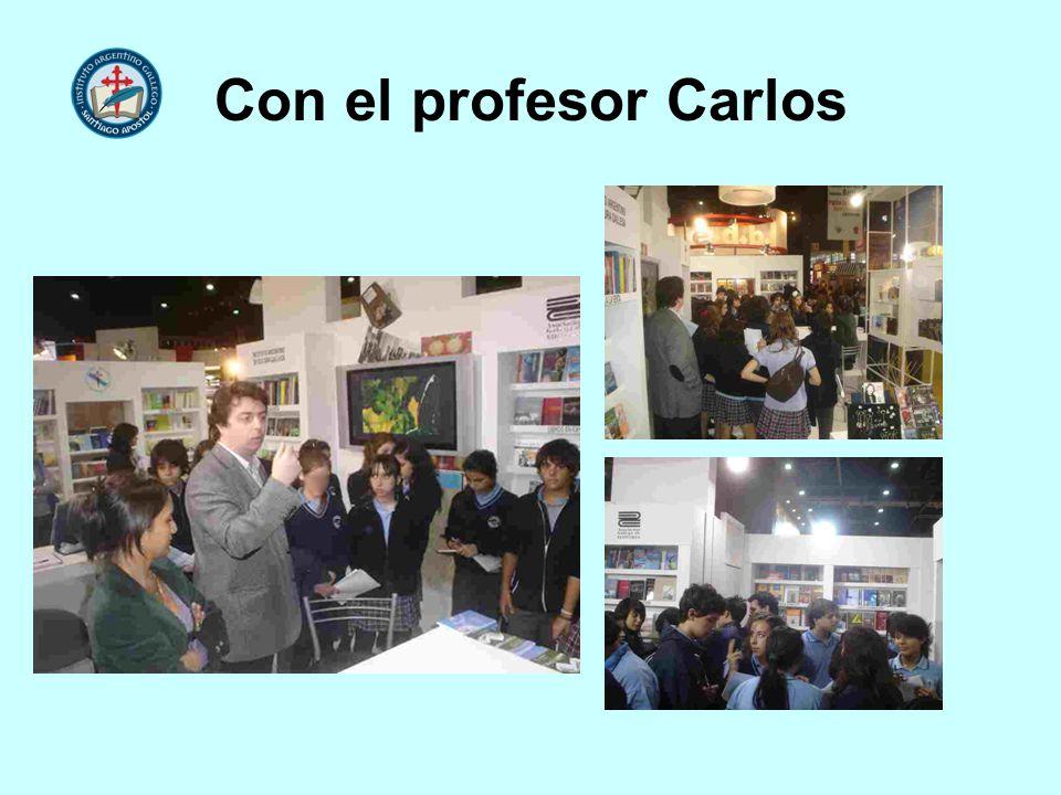 Con el profesor Carlos