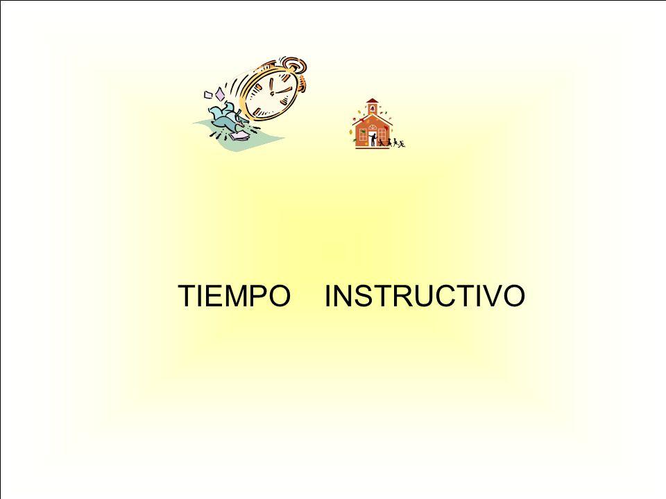 TIEMPO INSTRUCTIVO