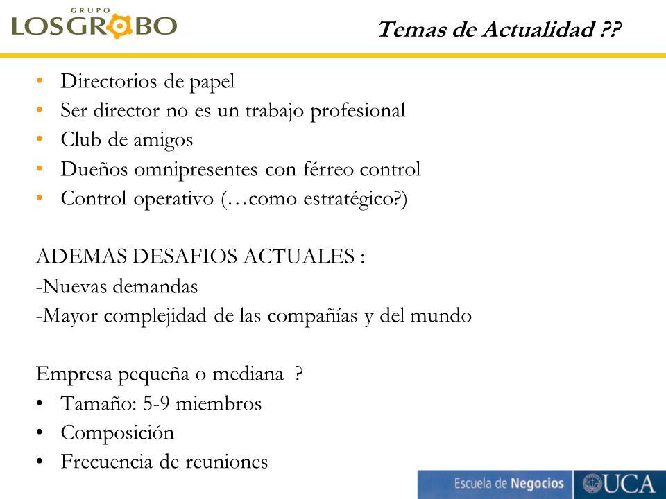 Temas de Actualidad ?.