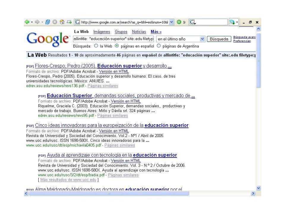 Etapa de organizar los enlaces a textos completos en la pág.Web de la biblioteca Simple listado de enlaces Enlaces organizados por categorías Directorio de enlaces Buscador