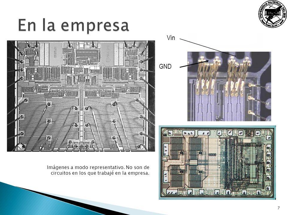 7 Imágenes a modo representativo. No son de circuitos en los que trabajé en la empresa.