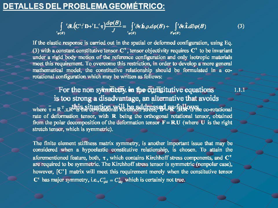 DETALLES DEL PROBLEMA GEOMÉTRICO: