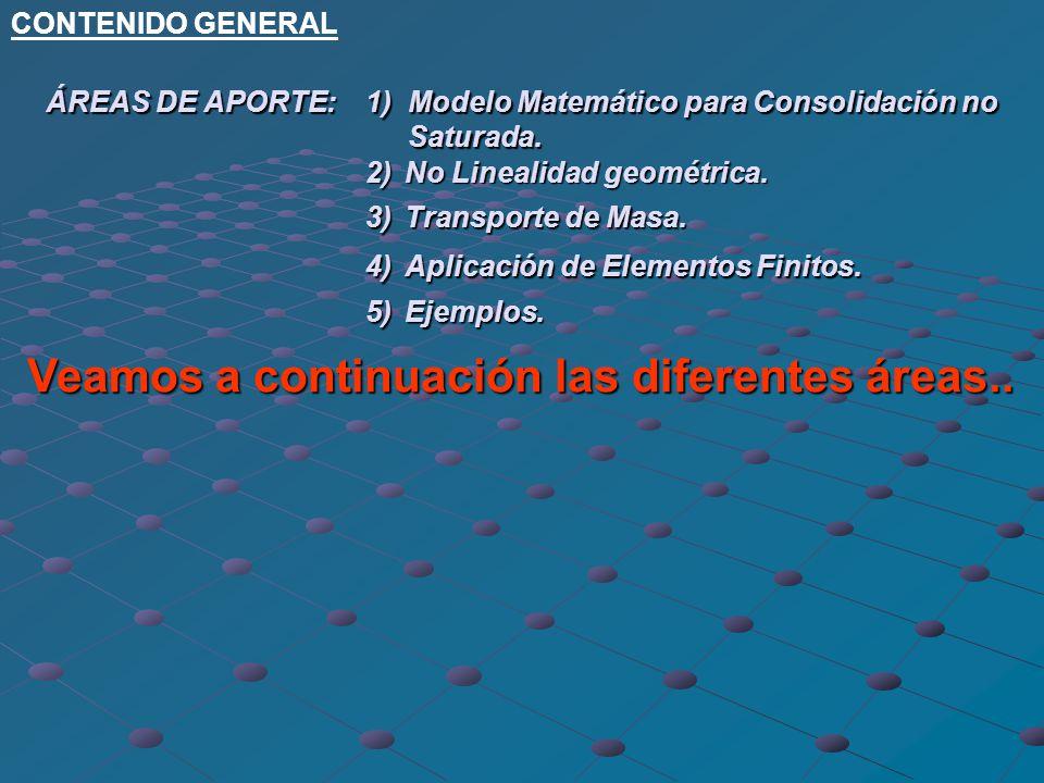 Simulación numérica de problemas con no linealidad física y geométrica. Análisis de Consolidación de suelos no Saturados. Transporte de Masa UNIVERSID