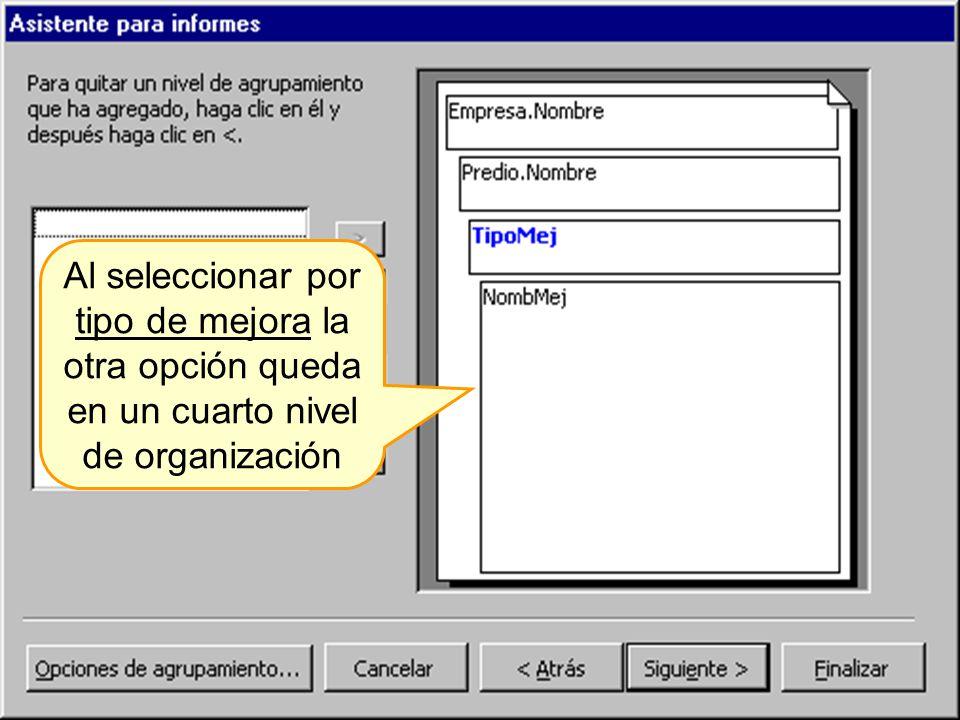 Ordenar los registros en forma ascendente o descendente según el campo elegido para el orden.