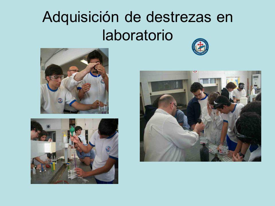 Adquisición de destrezas en laboratorio