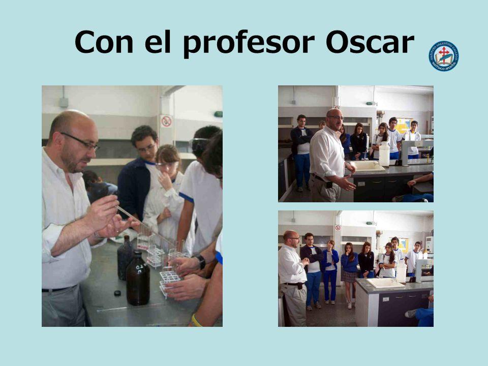 Con el profesor Oscar