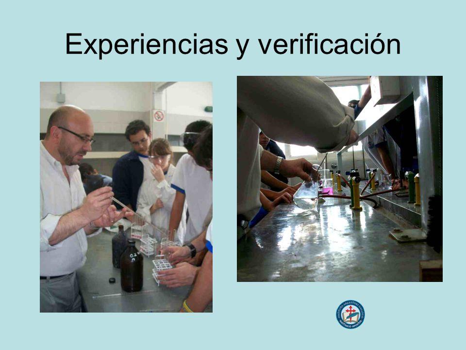 Experiencias y verificación