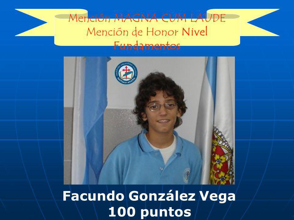 Facundo González Vega 100 puntos