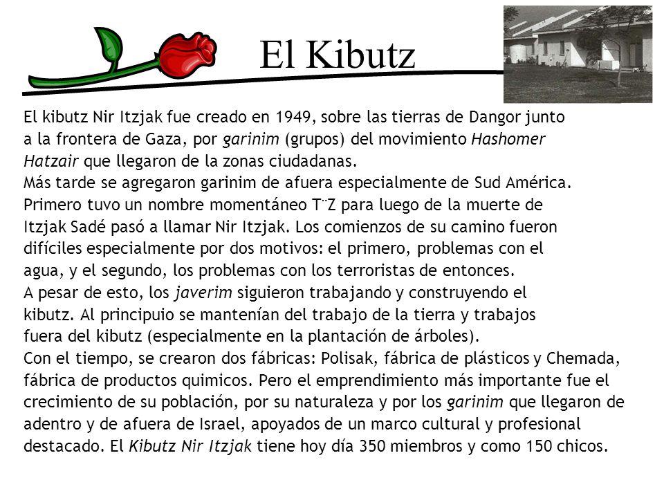 El Kibutz El kibutz Nir Itzjak fue creado en 1949, sobre las tierras de Dangor junto a la frontera de Gaza, por garinim (grupos) del movimiento Hashom