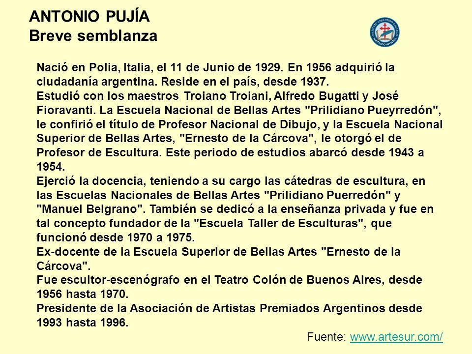 Nació en Polia, Italia, el 11 de Junio de 1929. En 1956 adquirió la ciudadanía argentina. Reside en el país, desde 1937. Estudió con los maestros Troi