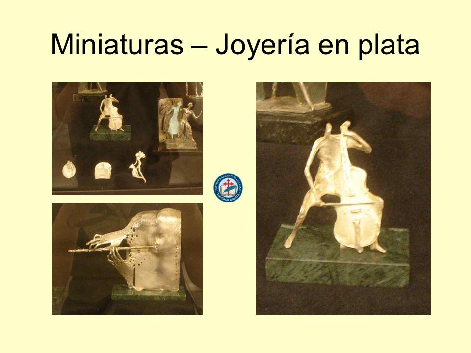 Miniaturas – Joyería en plata