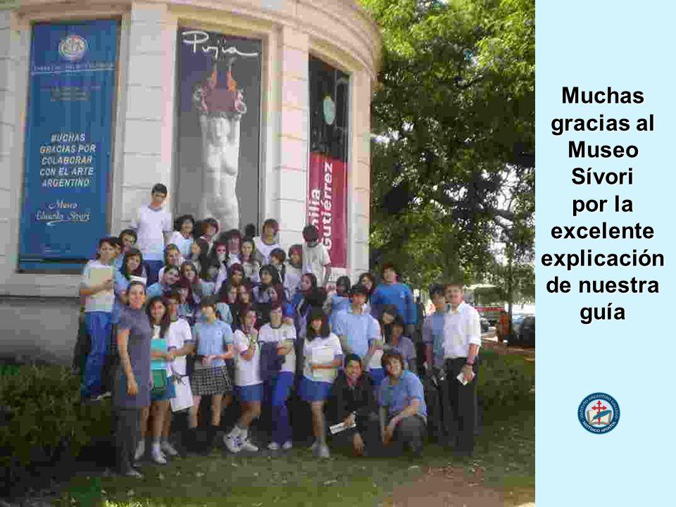 Muchas gracias al MuseoSívori por la excelenteexplicación de nuestra guía