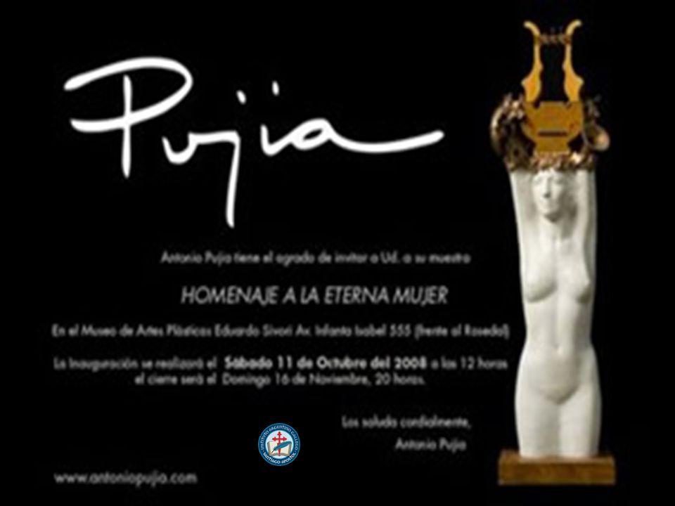 Homenaje a la eterna mujer Pujía: Homenaje a la eterna mujer La muestra está compuesta por esculturas medianas y grandes, hechas en bronce, mármol y ébano, mini esculturas y joyería realizada en plata.