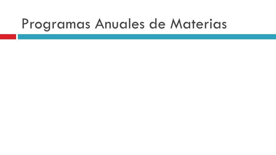 Programas Anuales de Materias