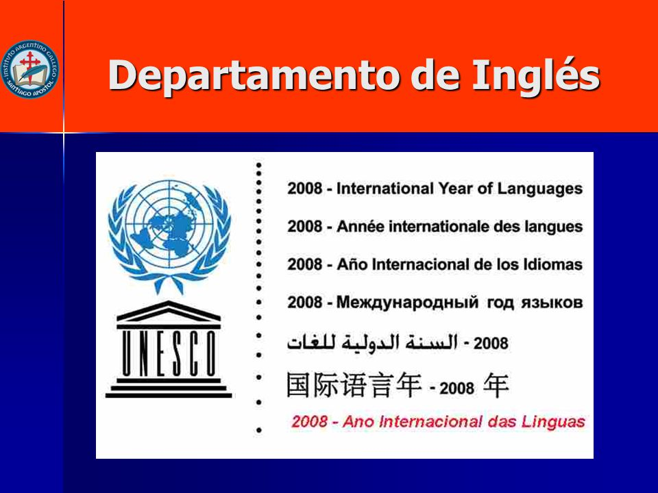 Departamento de Inglés Departamento de Inglés