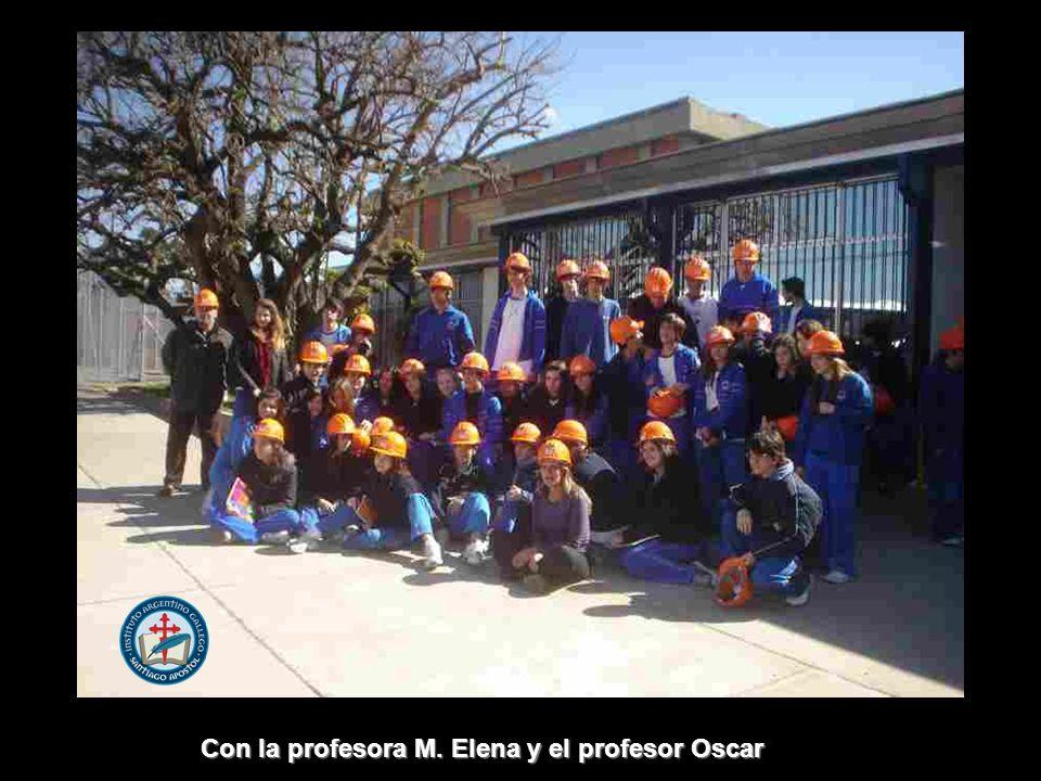 Con la profesora M. Elena y el profesor Oscar