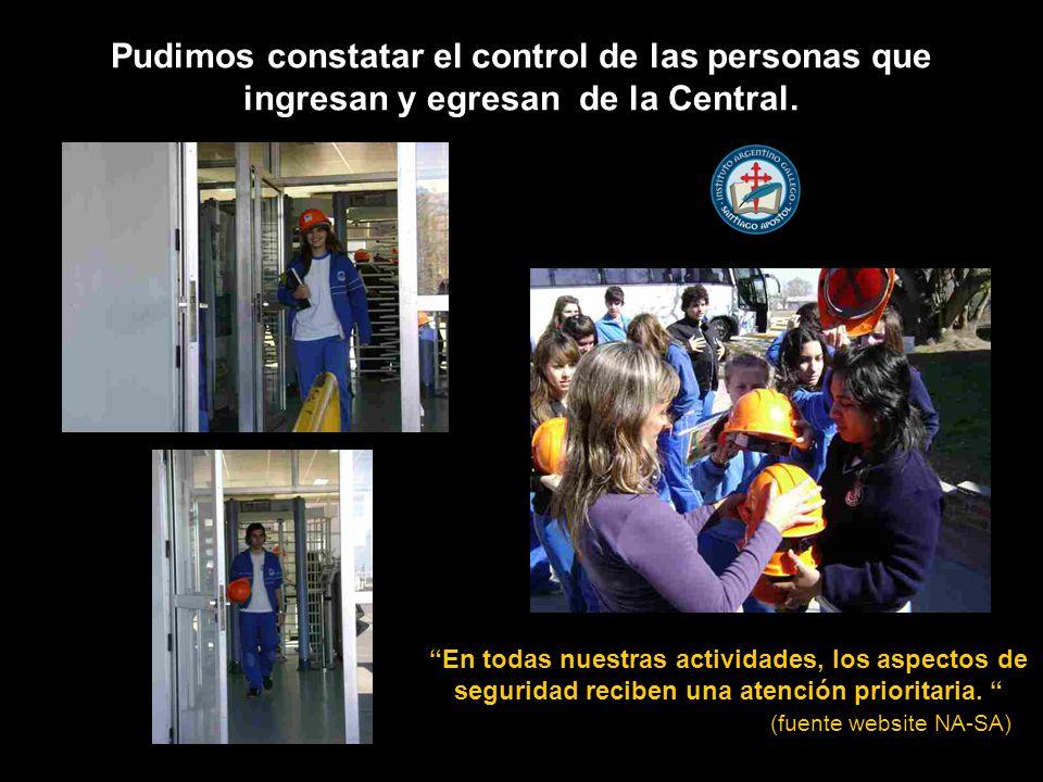 Pudimos constatar el control de las personas que ingresan y egresan de la Central.