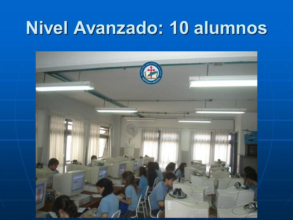 Nivel Avanzado: 10 alumnos