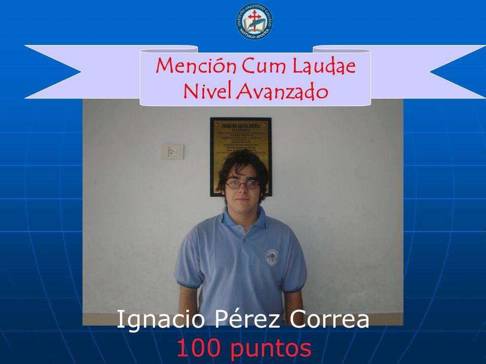 Ignacio Pérez Correa 100 puntos