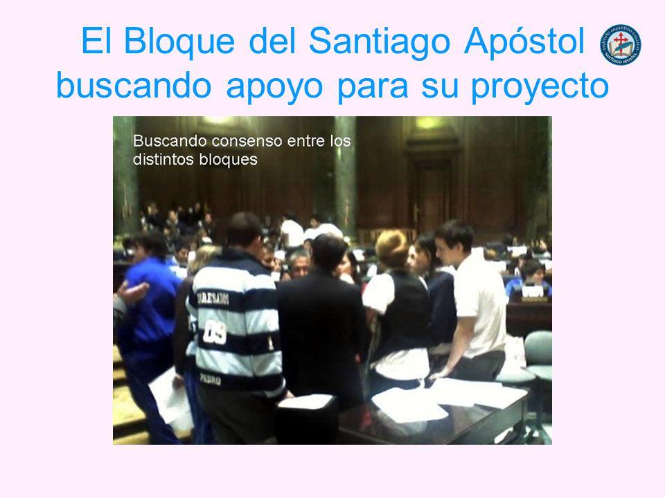 El Bloque del Santiago Apóstol buscando apoyo para su proyecto