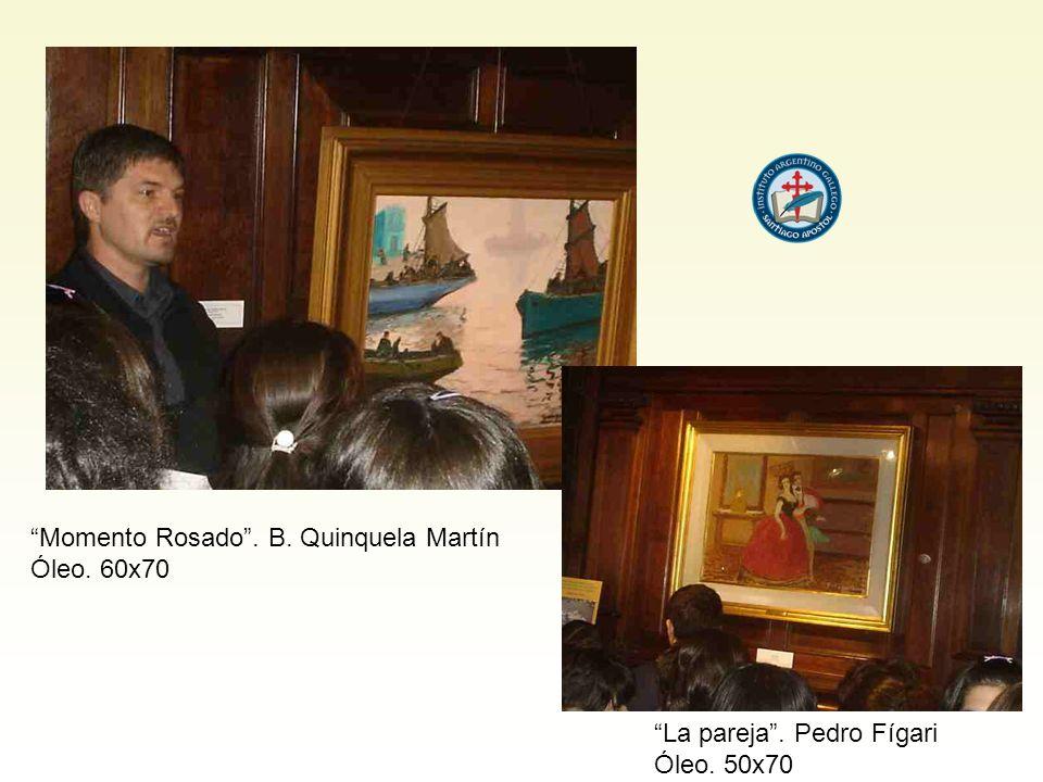 Momento Rosado. B. Quinquela Martín Óleo. 60x70 La pareja. Pedro Fígari Óleo. 50x70