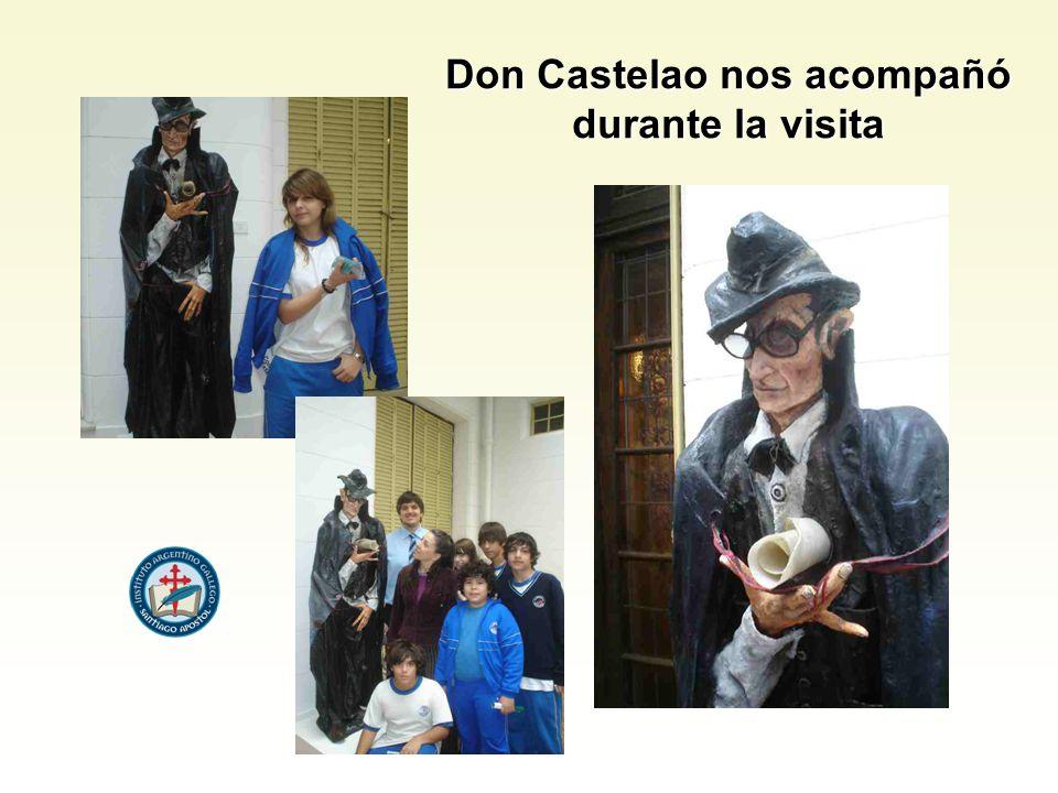 Don Castelao nos acompañó durante la visita