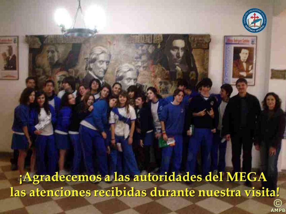 ¡Agradecemos a las autoridades del MEGA las atenciones recibidas durante nuestra visita.