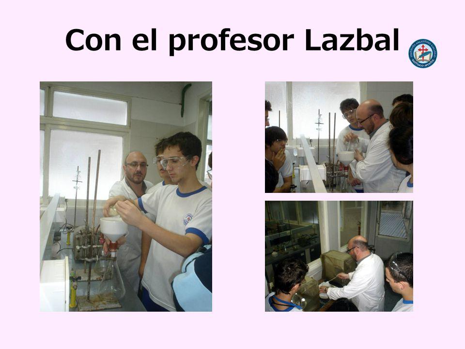 Con el profesor Lazbal