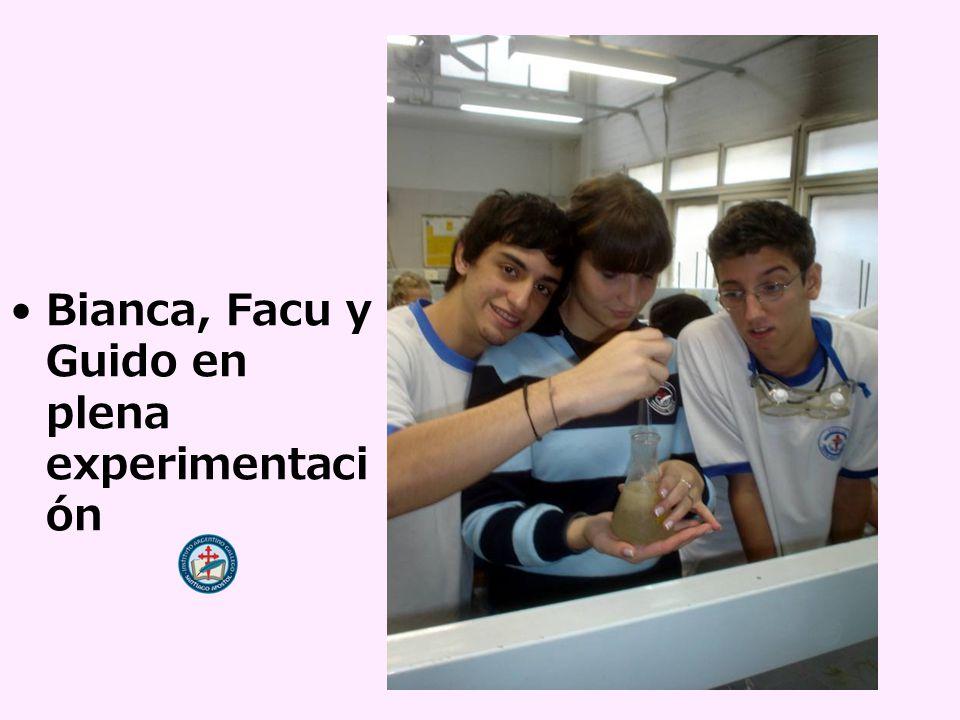 Bianca, Facu y Guido en plena experimentaci ón