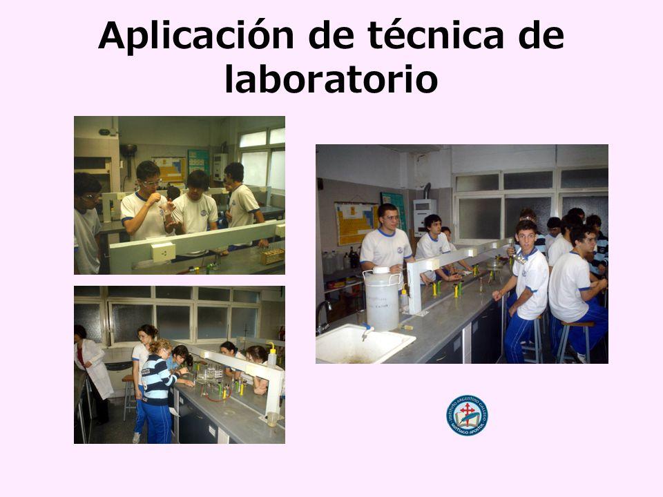 Aplicación de técnica de laboratorio