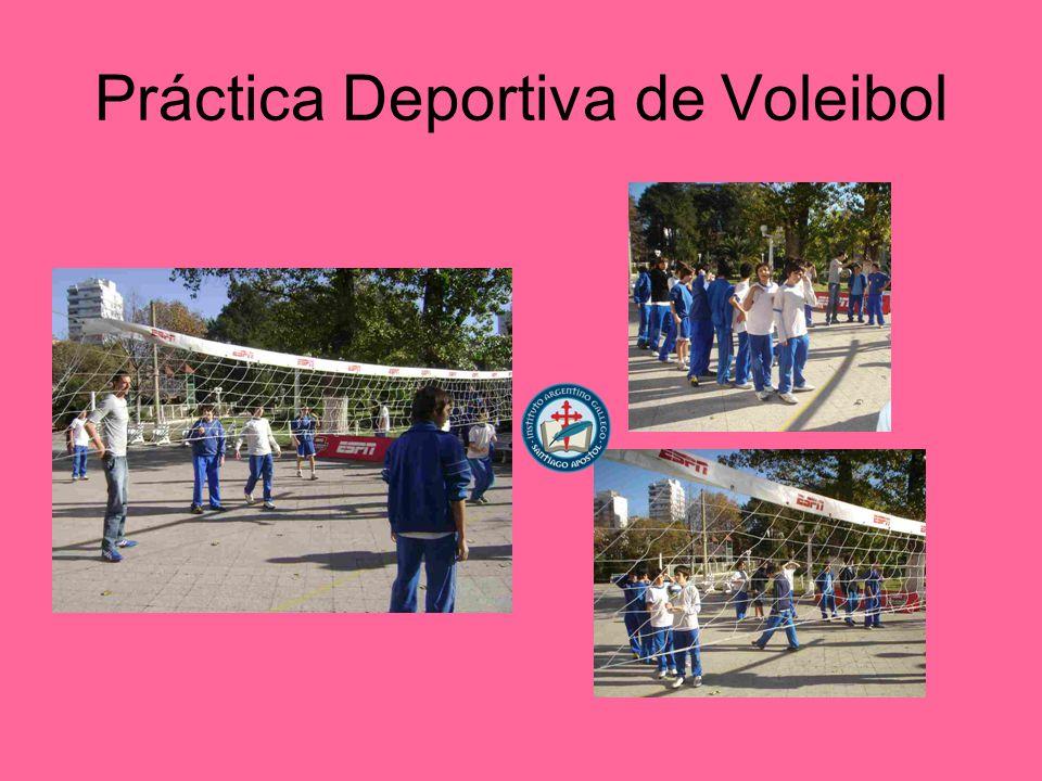 Práctica Deportiva de Voleibol