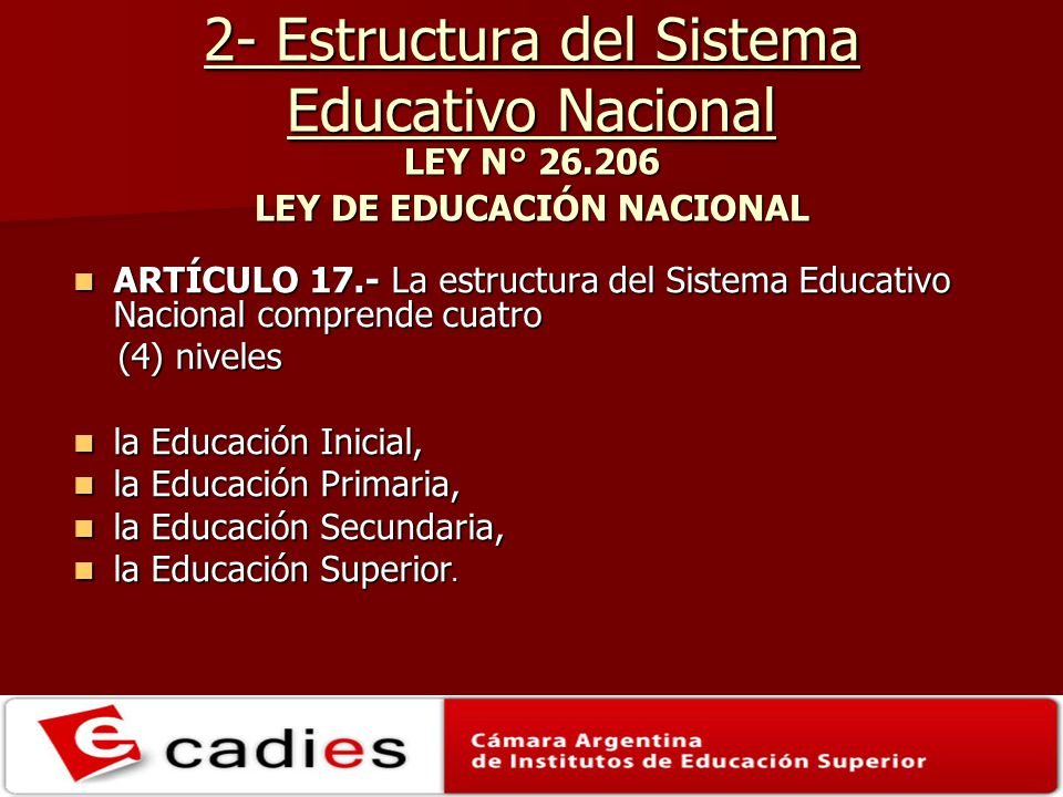 Año 2010: Educación Común.Nivel Superior 2.D.2.