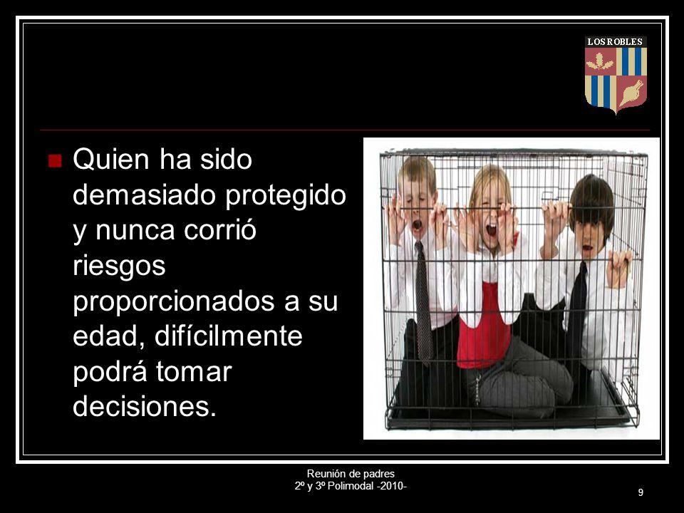 Reunión de padres 2º y 3º Polimodal -2010- 10 A esto se le agrega que, quien decide, se responsabiliza por su decisión, debe hacerse cargo.