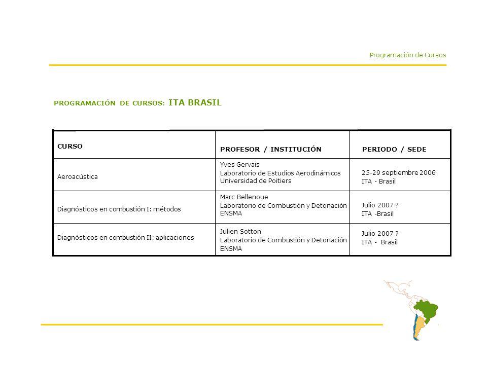 PROGRAMACIÓN DE CURSOS: ITA BRASIL Programación de Cursos Julio 2007 .