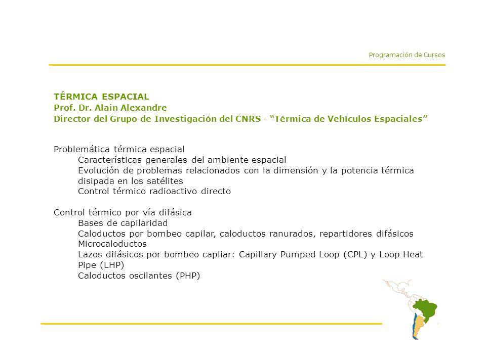 TÉRMICA ESPACIAL Prof. Dr.